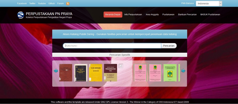 Sistem Informasi Perpustakaan Pengadilan Negeri Praya