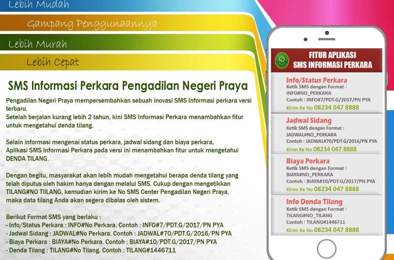 Informasi Pelayanan SMS